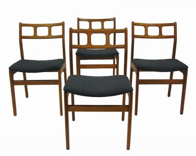Vintage Teak Dining Chairs *Set of 4*