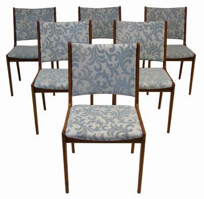 1960/70s Danish Teak Dining Chairs *Set of Six*