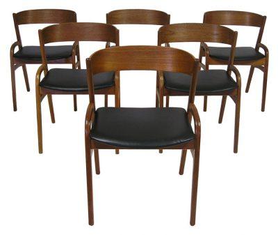 1950/60s Danish Teak Dining Chairs *Set of Six*