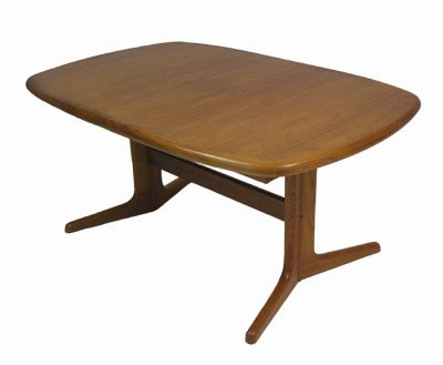 1970/80s Teak Dining Table w/2 Extensions