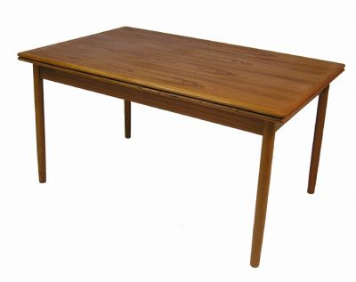 1960/70s Teak Draw-Leaf Dining Table