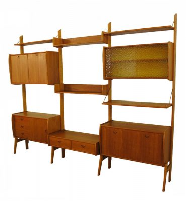 1960s Free-Standing Teak Wall System *Norway*
