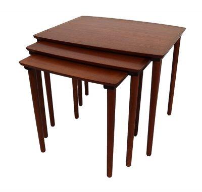 1960s Danish Teak Nesting Tables * Mobelintarsia *