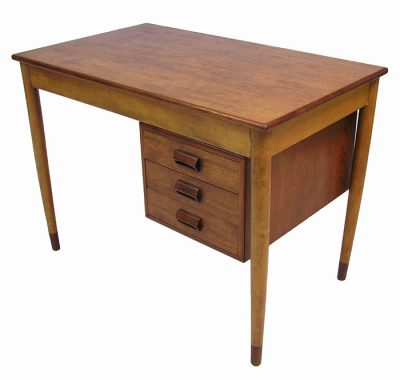 1950s Small Danish Teak & Oak Desk * Borge Mogensen *