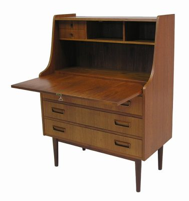1960s Teak Drop Front Secretary Desk *Denmark*