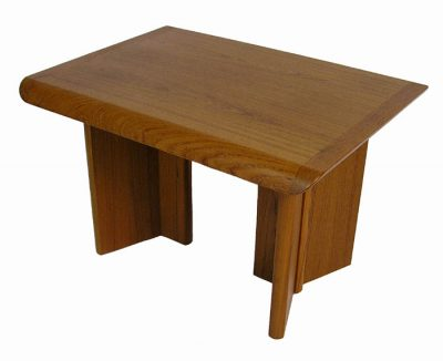 Vintage Teak End Table w/Tapered Edge