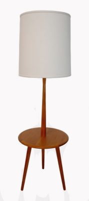 1960s Tripod-Leg Teak Table Floor Lamp