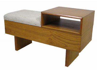 1960/70s Teak Telephone Table Bench
