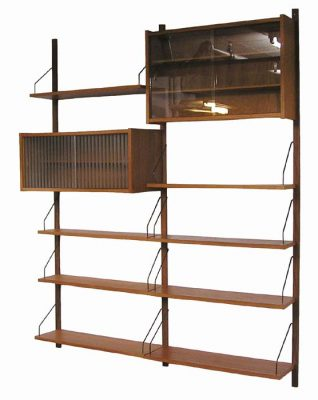 1960s Danish Teak Wall-Mount PS System * Peter Sorensen *