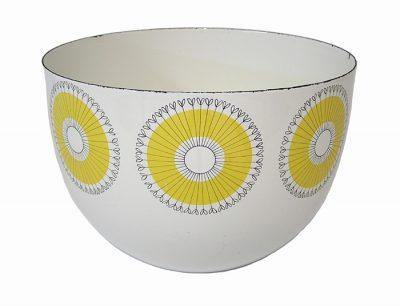 """1950s Kaj Franck Enamel """"Sunflower"""" Bowl *Finland*"""