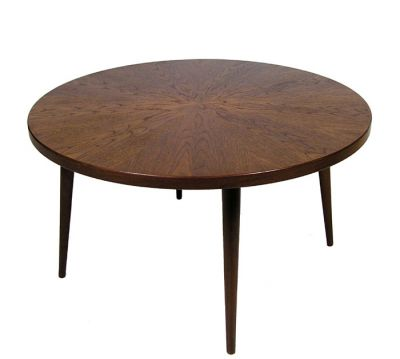 1960s Round Danish Teak Coffee Table