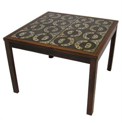 1960s Rosewood & Tile Side Table *Denmark*