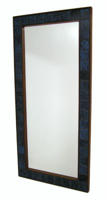1960s Rosewood & Tile Wall Mirror *Denmark*