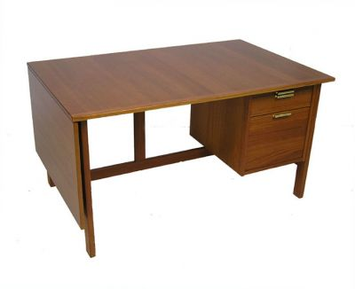 1960/70s Drop Leaf Teak Desk *Nils Jonsson*