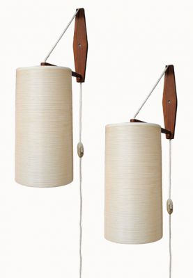 1960s Teak Wall Sconces *Lotte Bostlund*