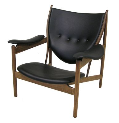 "Walnut & Leather ""Chieftain"" Lounge Chair *Finn Juhl*"