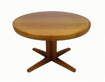 1970s Round Teak Dining Table