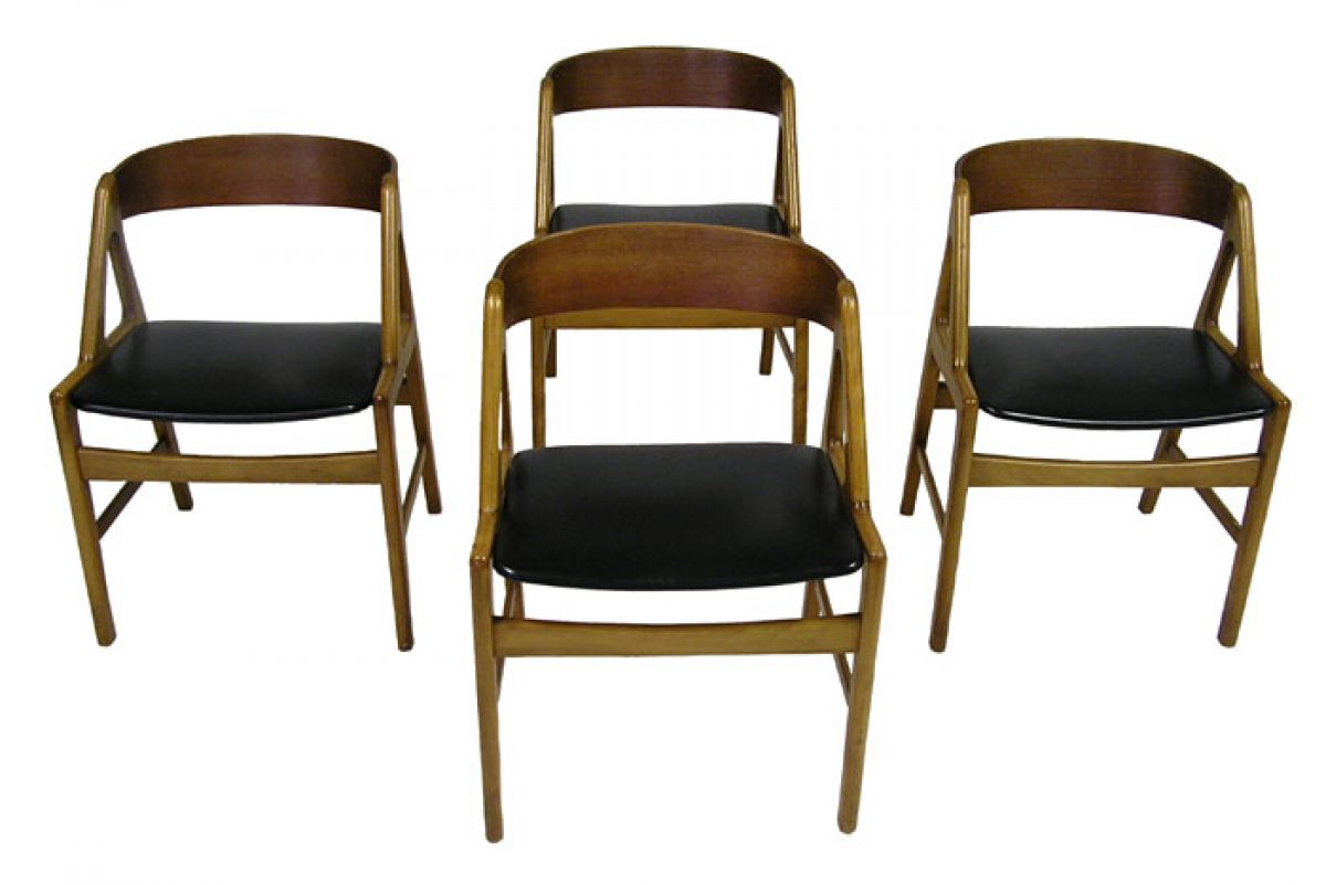 1950 60s Teak Amp Beech Dining Chairs Denmark Hoopers