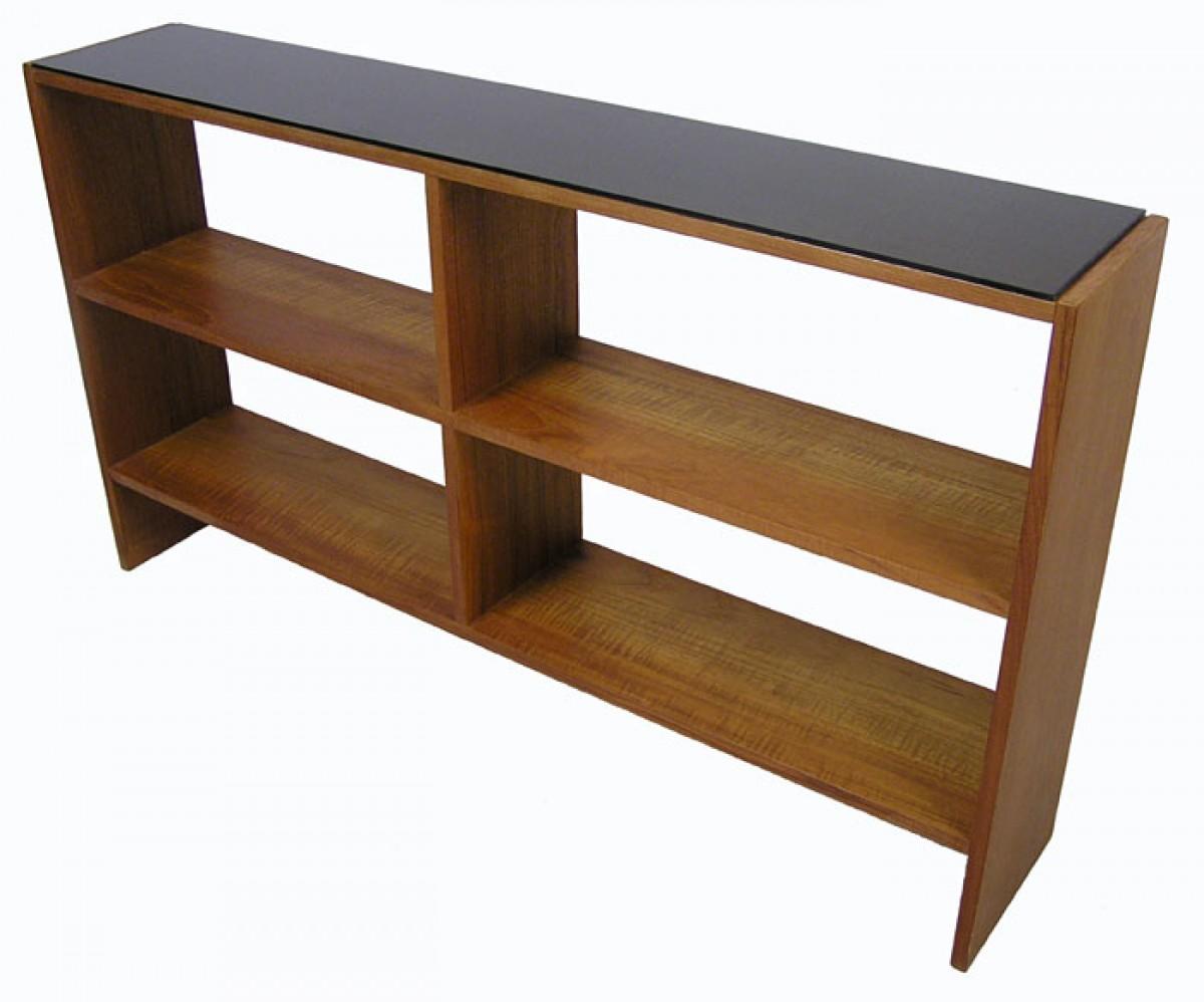 1960 70s Low Teak Bookshelf Hoopers Modern