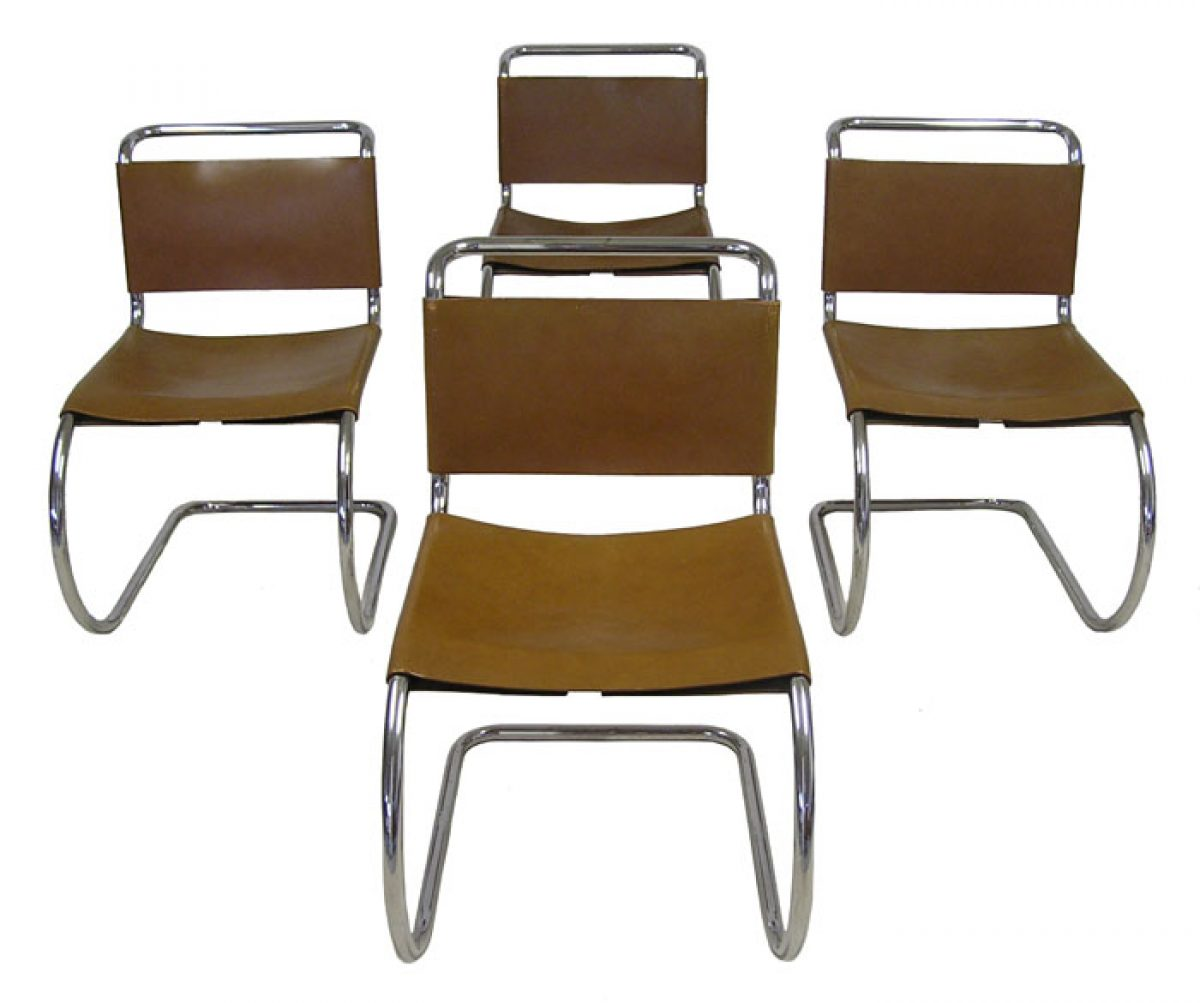 1970s Mies Van Der Rohe Side Chairs Set Of 4 Hoopers