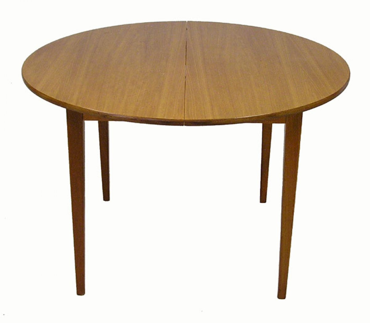 1960 70s Round Teak Dining Table Hoopers Modern