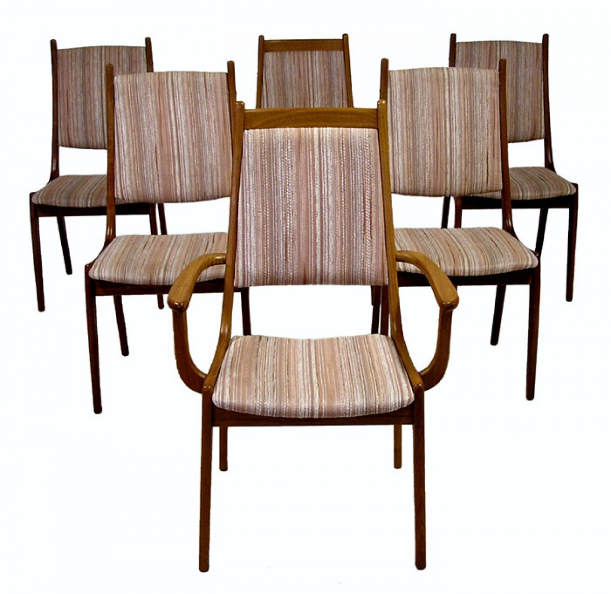 1960 70s Teak Dining Chairs Set Of 6 Hoopers Modern