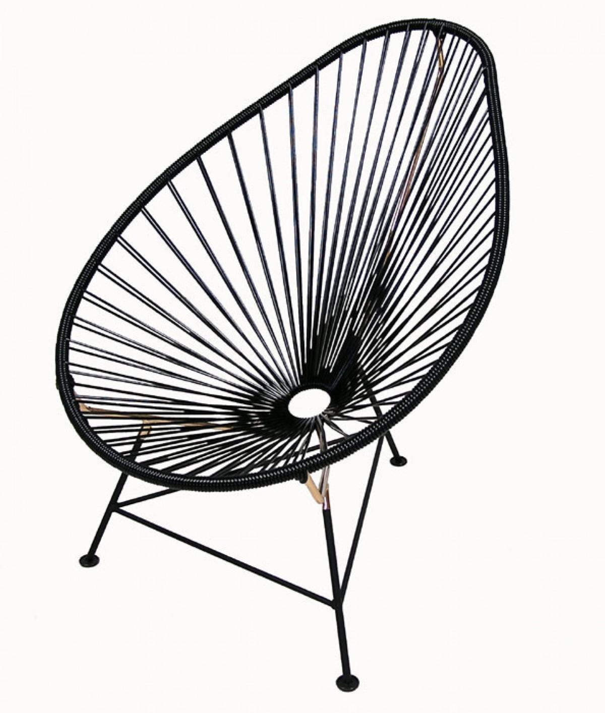 acapulco lounge chairs  black  u0026 copper   u2013 hoopers modern