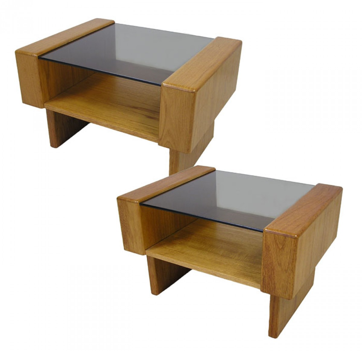 Teak Root Coffee Table Canada: Teak End Table W/Glass Top *2 Available*