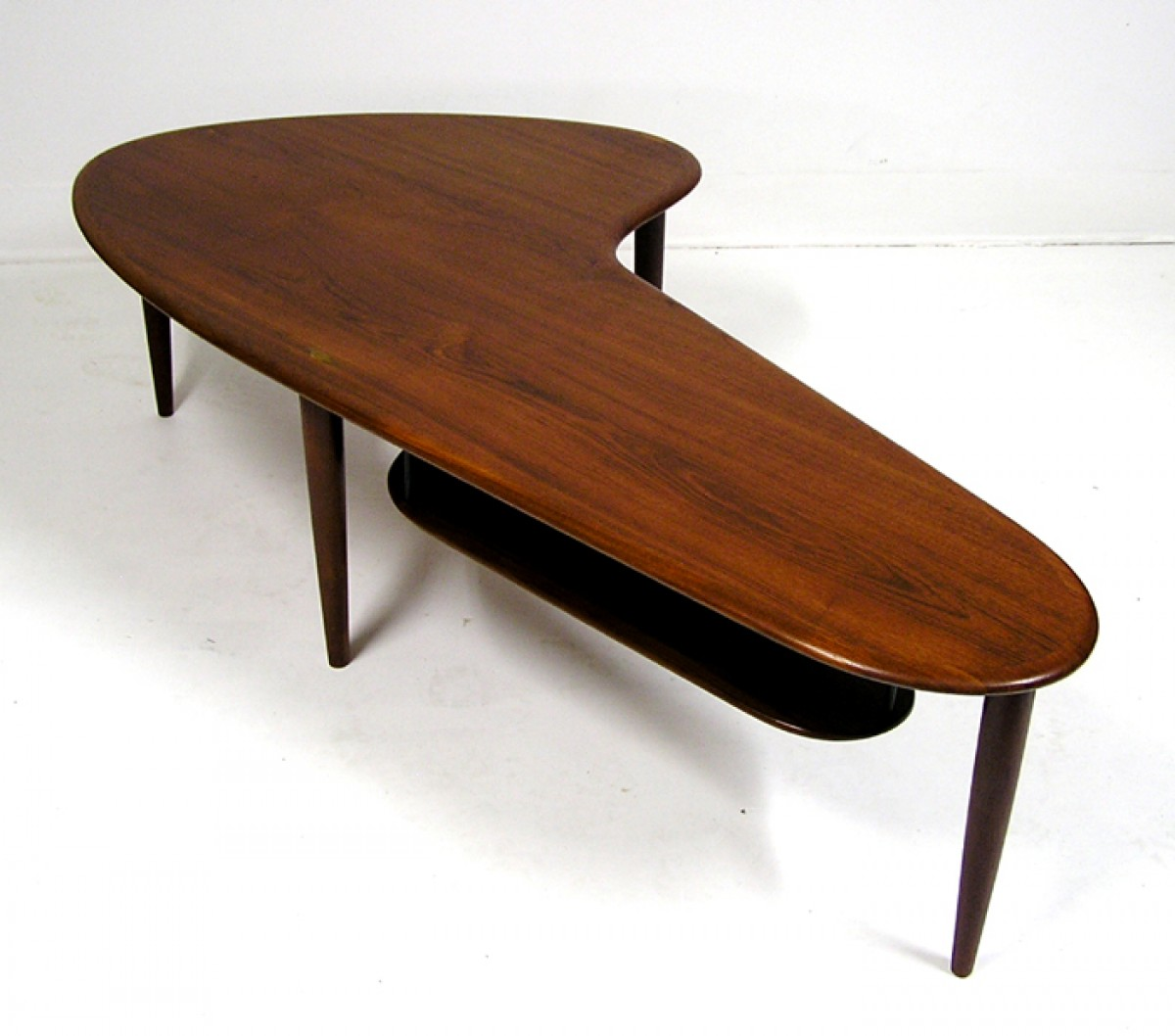 Teak Ottoman Coffee Table: Teak Boomerang Coffee Table