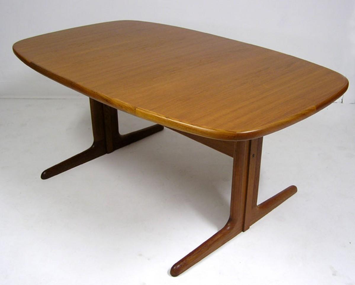 Danish Teak Dining Table W 2 Extensions Skovby Hoopers